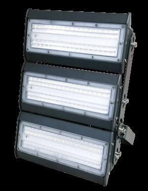 светильник для освещения стадиона, спортивной площадки 3 секции по 50 ватт холодный свет, степень защиты ip65