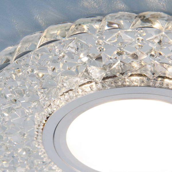 Встраиваемый потолочный светильник со светодиодной подсветкой 2235 MR16 CL прозрачный