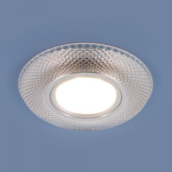 Встраиваемый потолочный светильник со светодиодной подсветкой 2238 MR16 CL прозрачный
