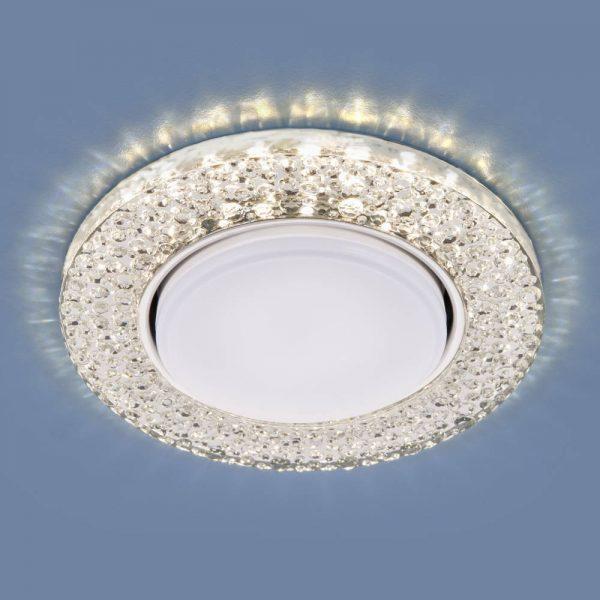 Встраиваемый потолочный светильник со светодиодной подсветкой 3029 GX53 CL прозрачный
