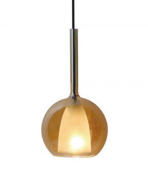 Светильник из янтарного стекла лофт бутылка