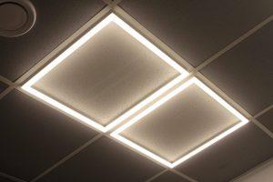 Рамка теплого света для потолка армстронг