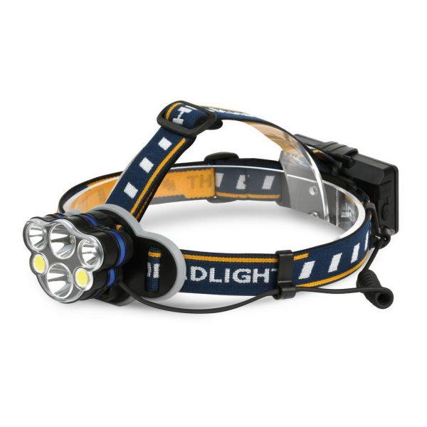 Аккумуляторный налобный фонарь 16 Вт LED+6 Вт СОВ Smartbuy, SBF-HL027