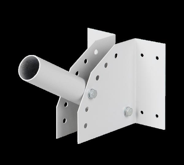Держатель на стену или столб для консольных мачтовых светильников регулируемый белый