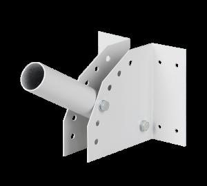 Белый кронштейн на столб или стену для консольного светильника