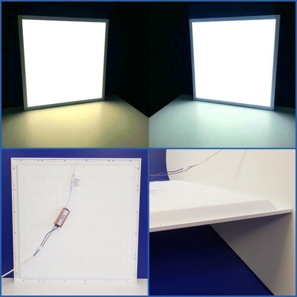 Универсальная панель равномерного света для потолка Армстронг холодный и теплый свет