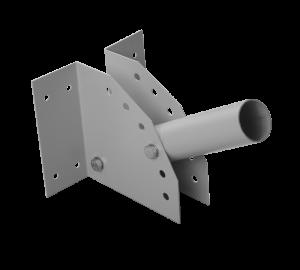 Серый кронштейн на столб для консольного светильника