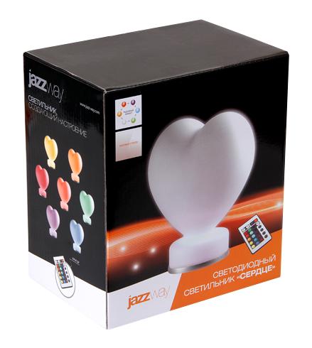 декоративный RGB светильник в форме сердца с пультом управления подарок на 14 февраля