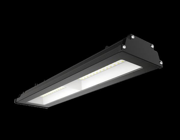 Светильник для монтажа над пролётами склада и производства 100w 5000K 9500lm