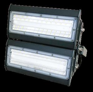 светильник для освещения стадиона, спортивной площадки 2 секции по 50 ватт холодный свет, степень защиты ip65