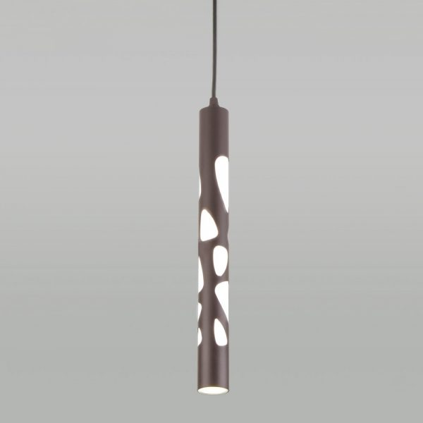 Подвесной потолочный светодиодный светильник DLR037 12W 4200K кофейный