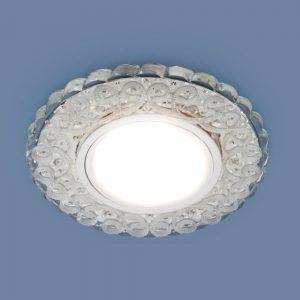 Встраиваемый потолочный светильник со светодиодной подсветкой 2234 MR16 CL прозрачный
