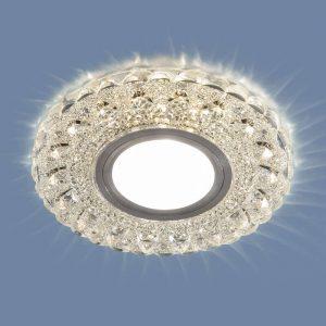 Встраиваемый потолочный светильник со светодиодной подсветкой 2236 MR16 CL прозрачный