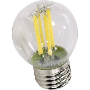 Филаментная светодиодная лампа G45 с прозрачной колбой