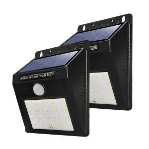Светильник на солнечной батарее настенный с датчиком движения