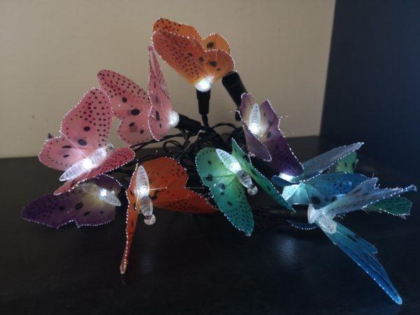 Бабочки. Ландшафтная гирлянда на солнечных баратеях SLR-G02 1