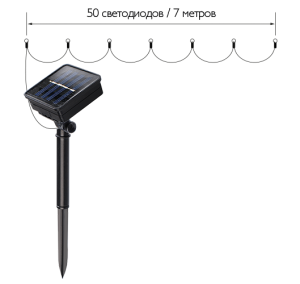 Разноцветная гирлянда на солнечных батареях slr-g01-1-02