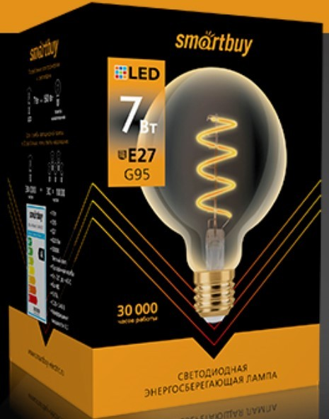 Светодиодная (LED) Лампа ART Smartbuy-G95-7W/3000/E27 2