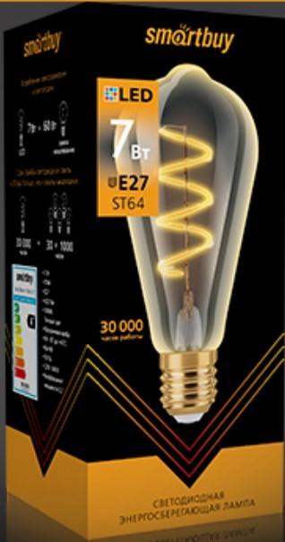 Светодиодная (LED) Лампа ART Smartbuy-ST64-7W/3000/E27 2
