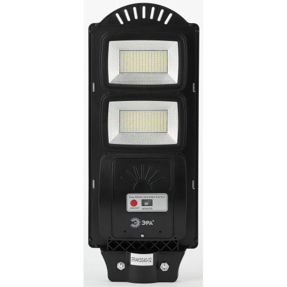ЭРА Консольный светильник на солн. бат.,SMD,с кронштейном, 40W, с датч.движ., ПДУ,700lm, 5000К, IP66 2