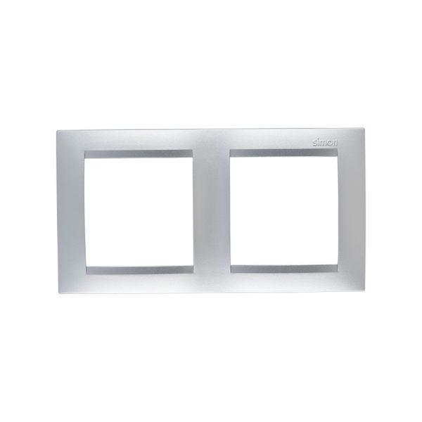 Рамка универсальная, 2 поста, алюминий Simon 1500620-033 1