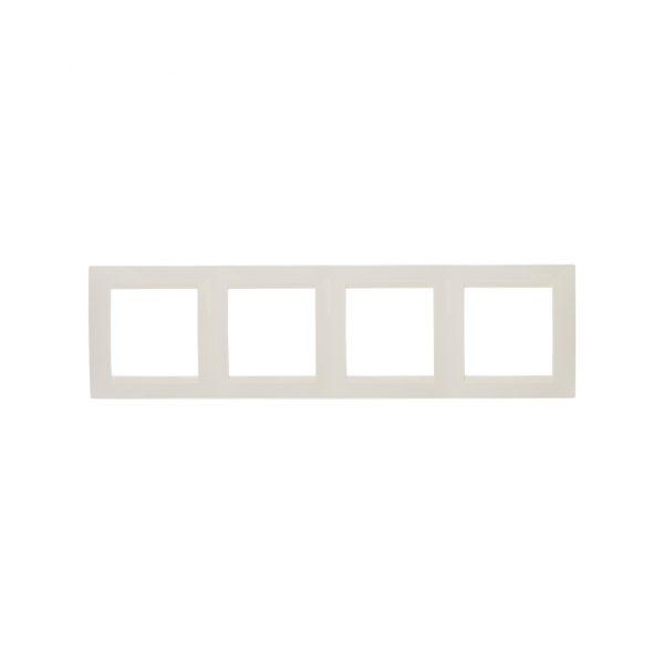 Рамка универсальная, 4 поста, слоновая кость Simon 1500640-031 1