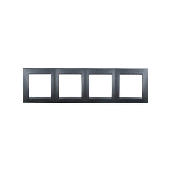 Рамка универсальная, 4 поста, графит Simon 1500640-038 1