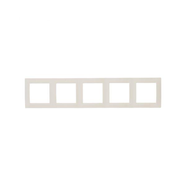 Рамка универсальная, 5 постов, слоновая кость Simon 1500650-031 1