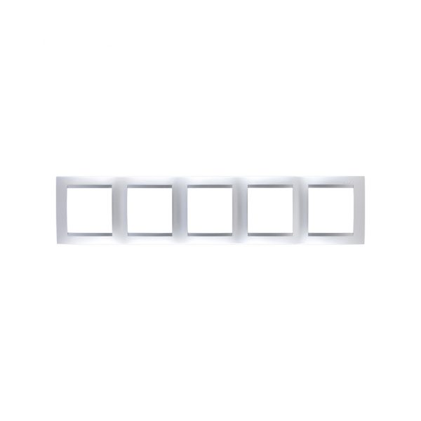 Рамка универсальная, 5 постов, алюминий Simon 1500650-033 1
