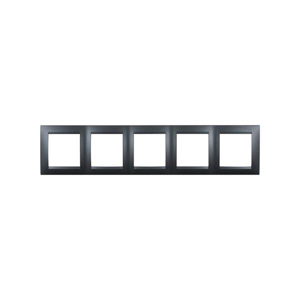 Рамка универсальная, 5 постов, графит Simon 1500650-038 1