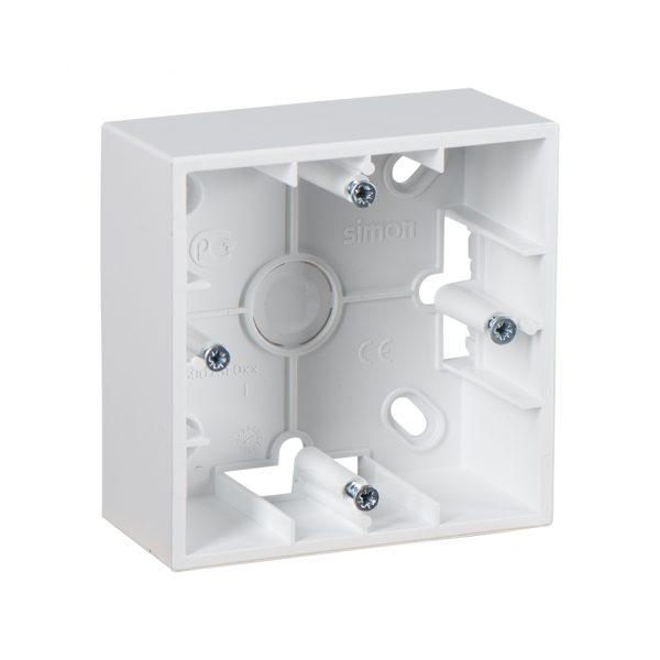 Монтажная коробка для накладного монтажа, 1 пост, белый Simon 1590751-030 1