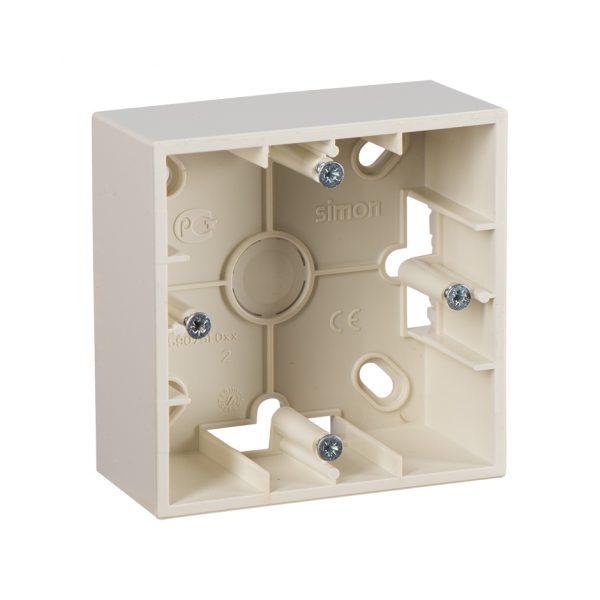 Монтажная коробка для накладного монтажа, 1 пост, слоновая кость Simon 1590751-031 1