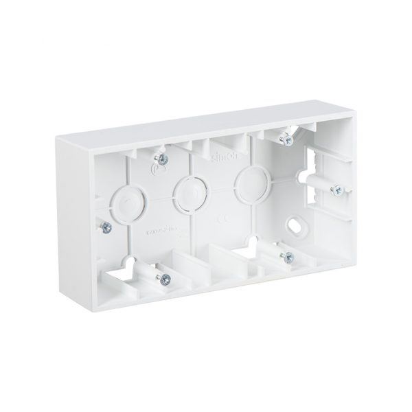 Монтажная коробка для накладного монтажа, 2 поста, белый Simon 1590752-030 1