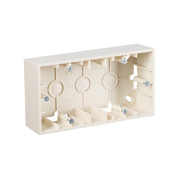 Монтажная коробка для накладного монтажа, 2 поста, слоновая кость Simon 1590752-031 1