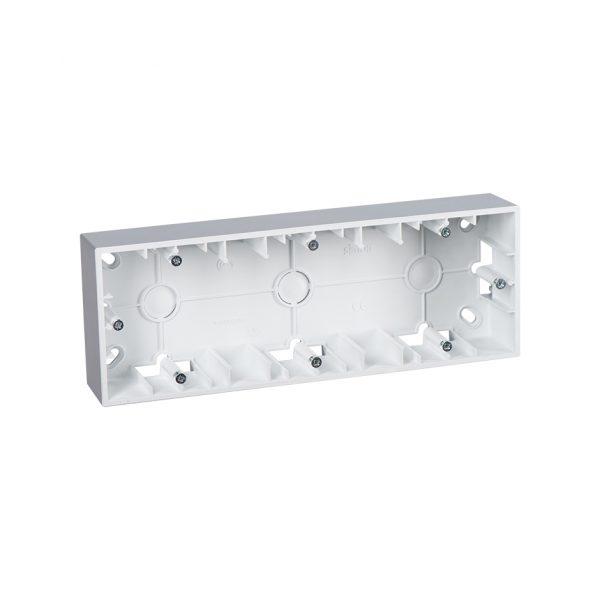 Монтажная коробка для накладного монтажа, 3 поста, алюминий Simon 1590753-033 1