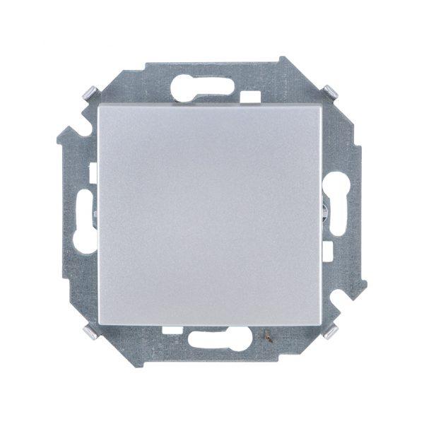 Выключатель одноклавишный, 16А 250В, винтовой зажим, алюминий Simon 1591101-033 1