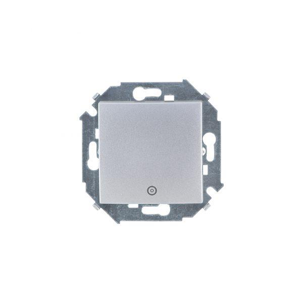 Выключатель одноклавишный кнопочный с пиктограммой, 16А 250В, винтовой зажим, алюминий Simon 1591150-033 1