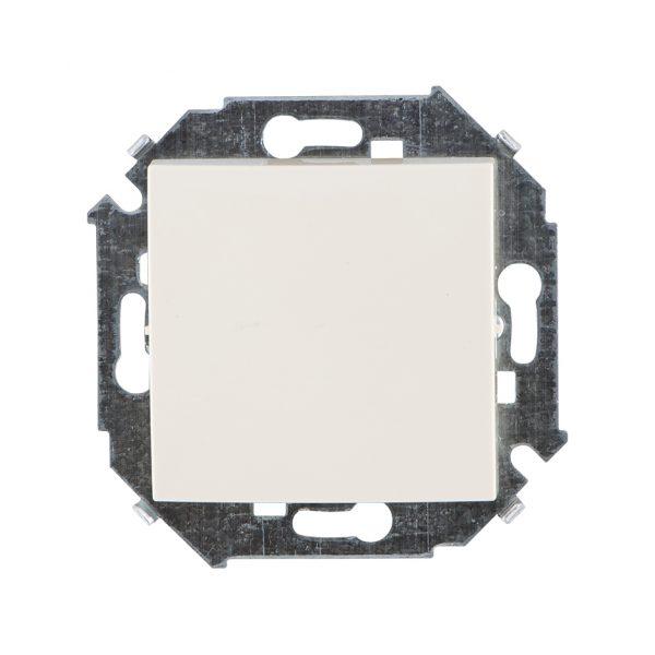 Выключатель одноклавишный проходной, 16А 250В, винтовой зажим, слоновая кость Simon 1591201-031 1