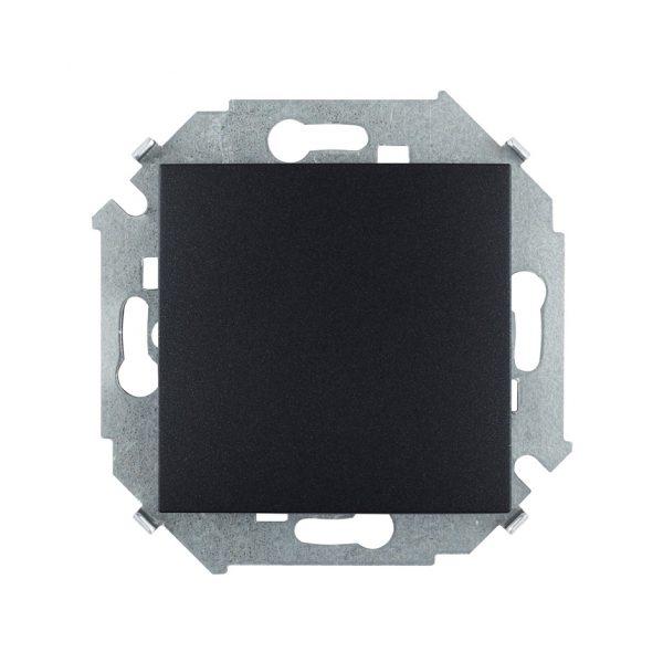 Выключатель одноклавишный проходной, 16А 250В, винтовой зажим, графит Simon 1591201-038 1