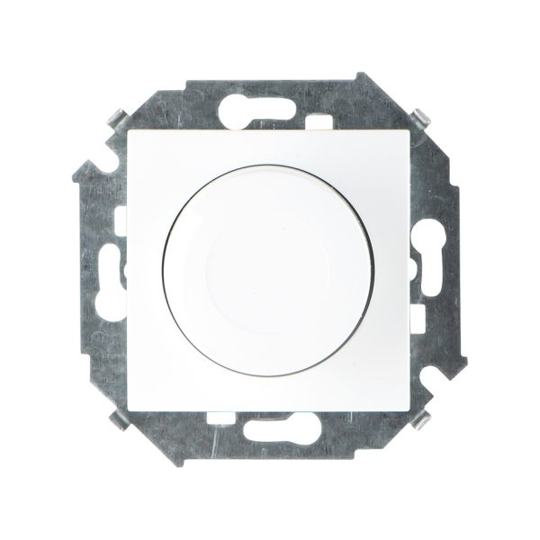 Регулятор напряжения поворотно-нажимной, 500Вт, 230В, винтовой зажим, белый Simon 1591311-030 1