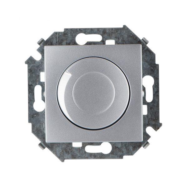 Регулятор напряжения поворотно-нажимной, 500Вт, 230В, винтовой зажим, алюминий Simon 1591311-033 1