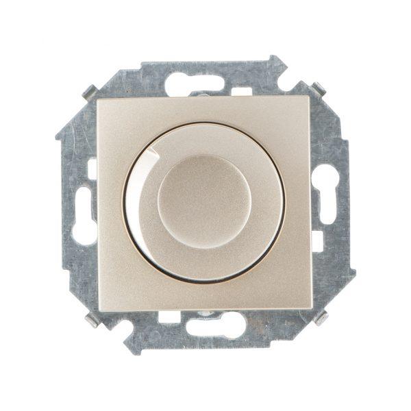 Регулятор напряжения поворотно-нажимной, 500Вт, 230В, винтовой зажим, шампань Simon 1591311-034 1