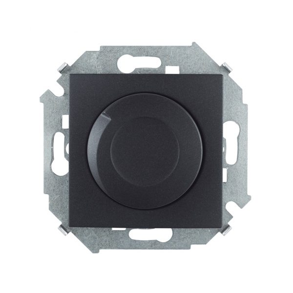 Регулятор напряжения поворотно-нажимной, 500Вт, 230В, винтовой зажим, графит Simon 1591311-038 1