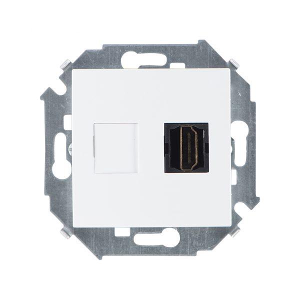 Розетка HDMI, белый Simon 1591407-030 1