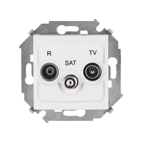 Розетка R-TV-SAT одиночная, винтовой зажим, белый Simon 1591466-030 1