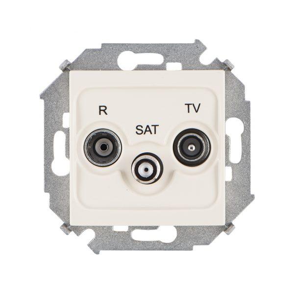 Розетка R-TV-SAT одиночная, винтовой зажим, слоновая кость Simon 1591466-031 1