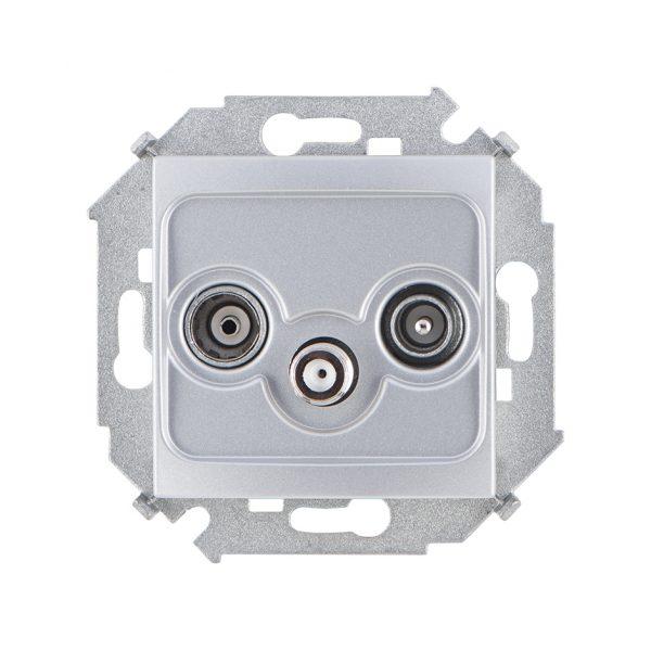 Розетка R-TV-SAT одиночная, винтовой зажим, алюминий Simon 1591466-033 1
