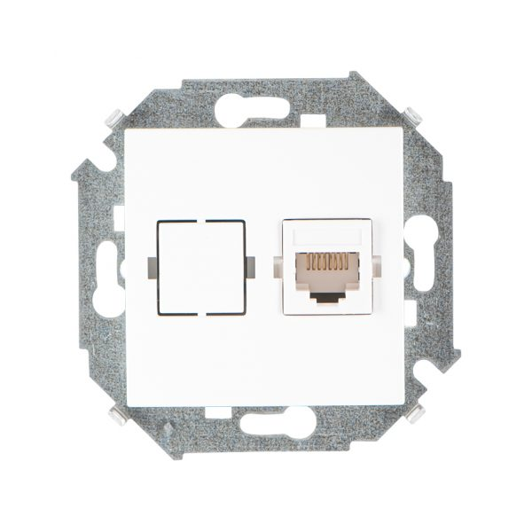 Розетка компьютерная RJ45 кат.5е, Systimax, белый Simon 1591598-030 1