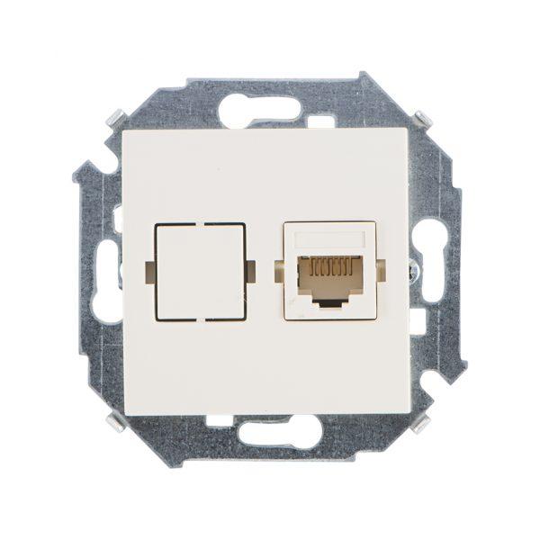 Розетка компьютерная RJ45 кат.5е, Systimax, слоновая кость Simon 1591598-031 1
