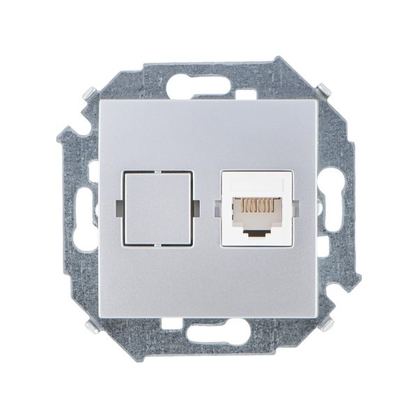 Розетка компьютерная RJ45 кат.5е, Systimax, алюминий Simon 1591598-033 1